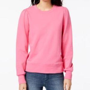 MAISON JULES Blouson Sleeve Sweatshirt PINK